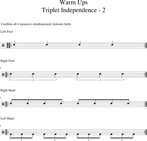 Warm Ups - Triplet Independence -2