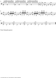 Max Roach The Drum Also Waltzes Transcription chart score notation