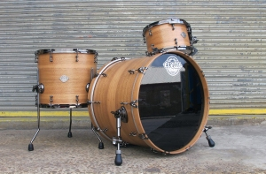 Custom Spotted Gum evetts drumkit