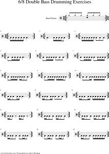 metal drum grooves double kick triplet blast beats transcription lessons