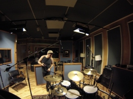 Mr. bill drums pearl masters drums side 3 recording studio Denver