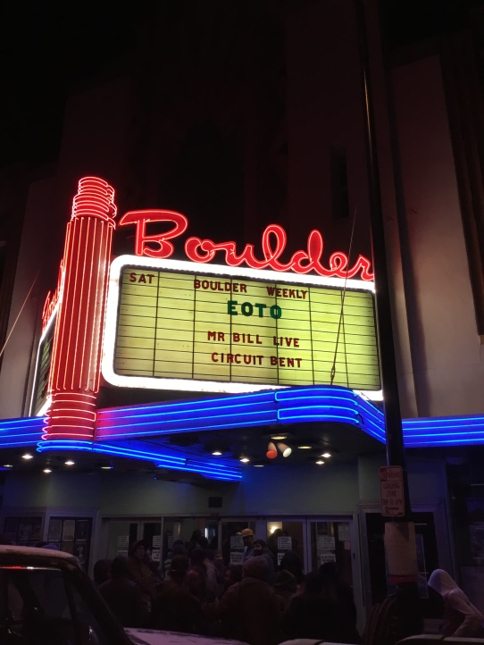 Boulder theater eoto mr bill
