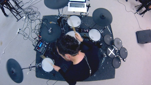 vdrums electronic drums live dnb roland afterlife drum and bass
