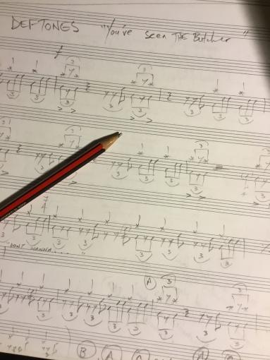 deftones abe cunningham drum transcription sheet music